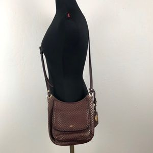 Tommy Bahama Brown Leather Crossbody Bag